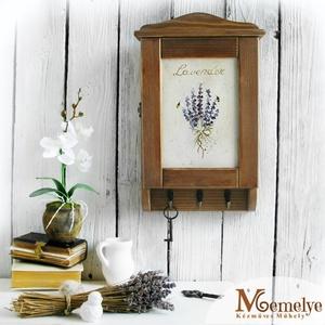 Kulcstartó szekrény, kulcsos szekrény, levendula, Otthon & Lakás, Bútor, Kulcstartó szekrény, Kézzel festett levendula motívummal díszített, fából készült kulcstartó szekrény.  Segítséget nyújt ..., Meska