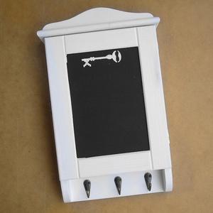 Kulcstartó szekrény, kulcsos szekrény, hófehér - Meska.hu
