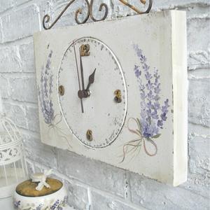 Falióra, vintage óra, levendulás (Memelye) - Meska.hu