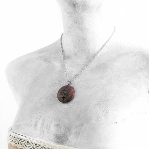 Tél - Fehér fa nyaklánc (Memelye) - Meska.hu