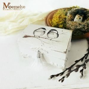 Gyűrűtartó doboz, madaras (Memelye) - Meska.hu