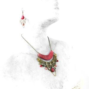 Birs piros ékszerszett (Memelye) - Meska.hu