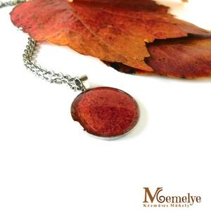 Piros levél nyaklánc (Memelye) - Meska.hu
