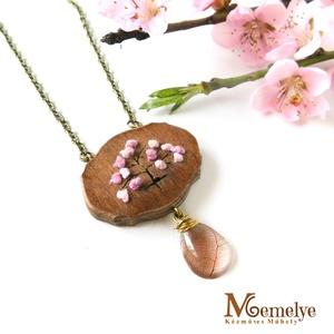 Cseresznyevirág nyaklánc (Memelye) - Meska.hu