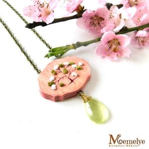 Rózsaszín tavasz nyaklánc (Memelye) - Meska.hu