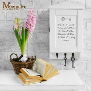 Kulcstartó szekrény, házi áldás, Otthon & lakás, Lakberendezés, Klasszikus házi áldással és kulcs motívummal díszített kulcstartó szekrény.  A fenyőfából, magyar as..., Meska