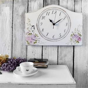 Vintage Falióra Rózsa, Otthon & lakás, Lakberendezés, Falióra, óra, Festett tárgyak, Kézzel festett rózsás mintával díszített, vintage hangulatú falióra.\n\nMÉRET: (külső): \n35 cm x 25 cm..., Meska