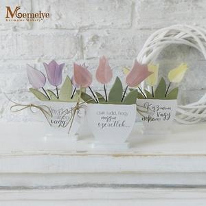 Fa tulipán választható felirattal és színnel - Meska.hu