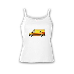 Crafter rohamkocsi mintás, női top, Táska, Divat & Szépség, Női ruha, Ruha, divat, Fotó, grafika, rajz, illusztráció, Mindenmás, A póló az egyik legújabb hazai mentőautót, a VW Crafter alvázra épített eset/rohamkocsit ábrázolja.\n..., Meska