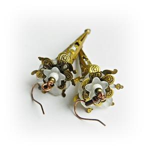 A bohém menyasszony - fleur design fülbevaló (merceria) - Meska.hu