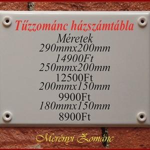 Tűzzománc házszám táblák. (MerenyiZomanc) - Meska.hu