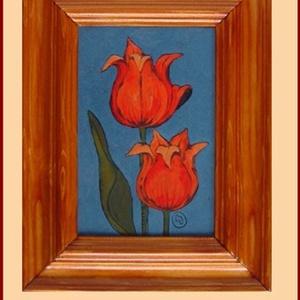 Tűzzománc kép , Otthon & lakás, Képzőművészet, Dekoráció, Kép, Tűzzománc, Festészet, A zománc mérete: 150mmx100mm.\nA keret fa 25mm széles.\nTeljes mérete:230mmx180mm., Meska