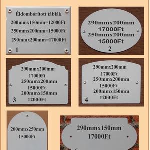 Tűzzománc házszám táblák. - otthon & lakás - dekoráció - kép & falikép - Meska.hu