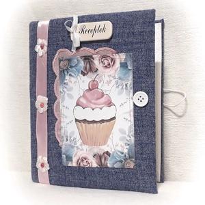 Virágos ,muffin mintás receptgyűjtő gyűrűs mappa , recept füzet, süteményes(füzet) A5 (Merka) - Meska.hu