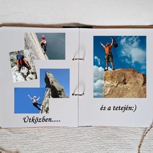 Hegymászó könyv,golyóstollal,szikla gyűrűs-kapcsos mappa, jegyzetfüzet,születésnap,fényképalbum, napló - A5-nél nagyobb (Merka) - Meska.hu