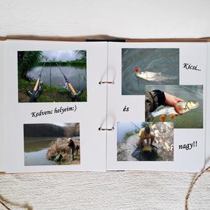 Horgásznapló,gyűrűs mappa,golyóstollal,kapcsos mappa, jegyzetfüzet,születésnap,fényképalbum, napló - A5-nél nagyobb (Merka) - Meska.hu