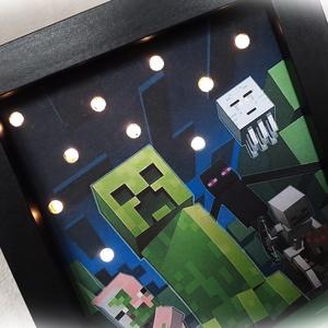 Minecraft világító fali kép, táblakép, irányfény, hangulatvilágítás,lámpa (Merka) - Meska.hu
