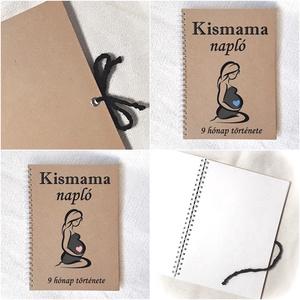 Kismama napló, jegyzetfüzet rusztikus stílusban- A5 méret, könyv, terhes, várandós (Merka) - Meska.hu