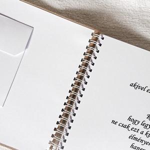 Pénzátadó bakancslista esküvőre, borítékkal,30 lappal,nászajándék,napló, fényképalbum, egyedi, névre szóló  (Merka) - Meska.hu