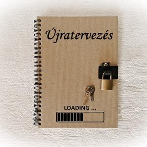 Füzet, napló,kérd saját szövegeddel, lakattal, születésnap, névnap, jegyzetfüzet, díszíthető (Merka) - Meska.hu
