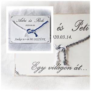 """Kötélceremónia, esküvő ,polgári ceremónia, fehér fa,fa falikép,  nászajándék, évforduló,szerelem, valentin, Esküvő, Nászajándék, Emlék & Ajándék, A megkötött kötél """"az igaz szerelem kötése"""" - mely soha nem szakad el, teher alatt pedig még erősebb..., Meska"""