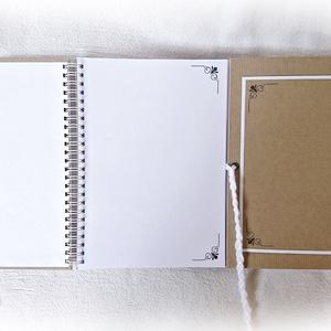 Díszíthető vendégkönyv, esküvői, rendezvény, születésnapi album, emlékkönyv,  - A4, 60 lap-120 oldal (Merka) - Meska.hu