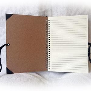 Kávé mintás napló, jegyzetfüzet,rusztikus stílusban- A5 méret (Merka) - Meska.hu