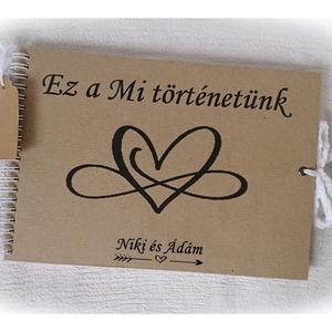 Szerelmes fénykép album, nászajándék,(beragasztós), napló,rusztikus , 25x18cm, eljegyzés, évforduló, esküvő  (Merka) - Meska.hu