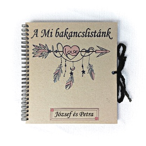 Pénzátadó bakancslista esküvőre, borítékkal is kérhető,nászajándék,napló, beragsztós fényképalbum, egyedi, névre szóló  - esküvő - emlék & ajándék - nászajándék - Meska.hu