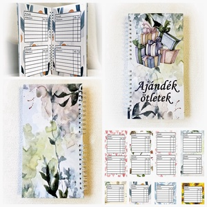 Ajándék ötlet gyűjtő, jegyzetfüzet, notesz, napló, születésnap, névnap, karácsony, évforduló, Otthon & Lakás, Papír írószer, Jegyzetfüzet & Napló, Fotó, grafika, rajz, illusztráció, Könyvkötés, Meska