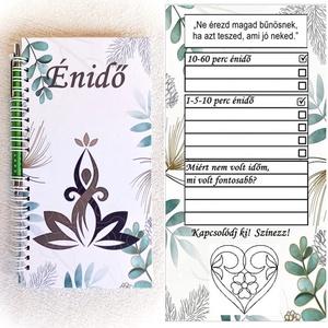 Énidő napló, jegyzetfüzet, munkafüzet, születésnap, névnap, karácsony, 30 napos kihívás - Meska.hu