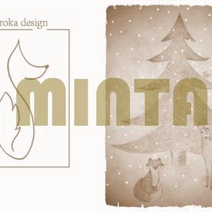 KÉSZETKISÖPRÉS AKCIÓ - Bambis kozmetikai táska, irattartó - Karácsonyra (Mesedoboz) - Meska.hu