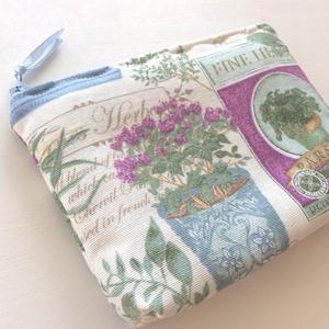 Provence, fűszer mintás neszesszer, kozmetikai táska (Mesedoboz) - Meska.hu