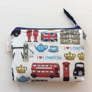London mintás irattartó, pénztárca - I love London - Artiroka design, Táska, Divat & Szépség, Táska, Pénztárca, tok, tárca, Pénztárca, Neszesszer, Varrás, London mintás pamut textilből készült ez az irattartó pénztárca.  Belseje pamut textil, közötte vete..., Meska