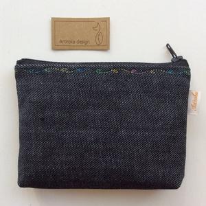 Lovas,  irattartó pénztárca fekete színben, színátmenetes cérnával varrva  (Mesedoboz) - Meska.hu