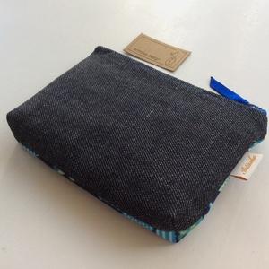 Gitár mintás, fekete - kék és zöld színű irattartó pénztárca, neszesszer - Artiroka design  - Meska.hu