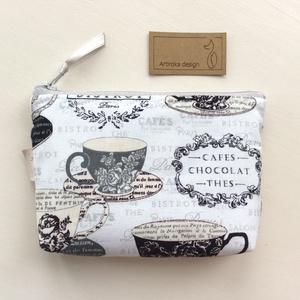 Lehet egy 5 órai tea? -  csésze mintás  irattartó pénztárca - Artiroka design, Táska & Tok, Pénztárca & Más tok, Kártyatartó & Irattartó, Varrás, Meska