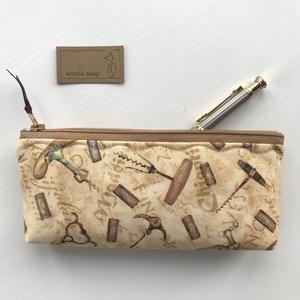 Bor, Mámor, Provence - tolltartó, szemüvegtok neszesszer  - Artiroka design , Férfiaknak, Táska, Divat & Szépség, NoWaste, Táska, Neszesszer, Pamut textilből készítettem ezt a tolltartót. Bélése hozzáillő  pamut textil. A cipzár különleges, h..., Meska