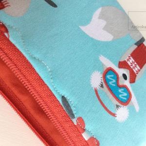 Róka móka irattartó, pénztárca türkiz színben - Artiroka design  - Meska.hu