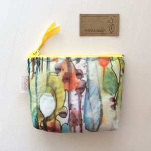 Egyedi aqvarell, irattartó  pénztárca, neszesszer kis méretben, Táska, Divat & Szépség, Táska, Pénztárca, tok, tárca, Pénztárca, NoWaste, Varrás, Patchwork, foltvarrás, Csodálatosan szép aqvarell mintás textilből varrtam ezt az irattartó  pénztárcát. Belseje hozá illő ..., Meska
