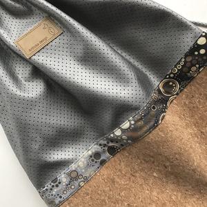 Parafa és sötét ezüst textilbőr hátizsák - XL méretben - Artiroka design (Mesedoboz) - Meska.hu