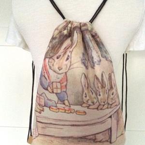Nyuszis gymbag hátizsák, tornazsák Beatrix Potter meséből -  Artiroka design - Húsvét (Mesedoboz) - Meska.hu