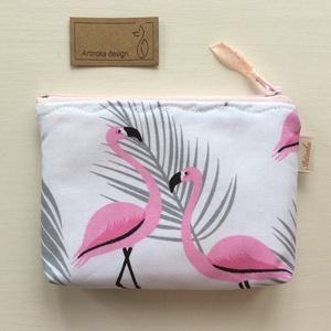 Flamingó mintás irattartó pénztárca - Artiroka design - Meska.hu