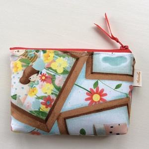 Dinnye szezon! Dinnye kívül, dinnye belül - irattartó neszesszer, Santorini designer textilből - Artiroka designl (Mesedoboz) - Meska.hu