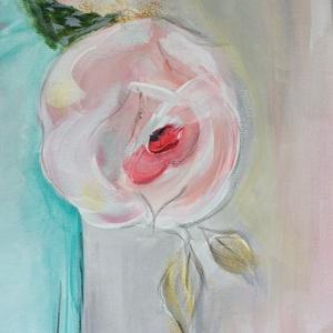 Rózsa csokor - akril festmény  - Artiroka design , Otthon & lakás, Képzőművészet, Festmény, Dekoráció, Lakberendezés, Falikép, Akril, Festészet, Pasztell rózsacsokor, csendélet. Saját kezűleg, akril festékkel festettem.  Ajándéknak is ajánlom, A..., Meska