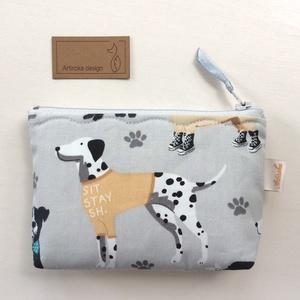 Dalmata kutya mintás irattartó pénztárca, neszesszer  -  Artiroka design, Táska, Divat & Szépség, Táska, Pénztárca, tok, tárca, NoWaste, Textilek, Varrás, Dalmata kutya mintás, prémium pamut textilből készült ez az irattartó pénztárca. Bélése hozzáillő ku..., Meska