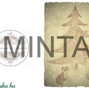 Karácsony váró, Rudolf a rénszarvas mintás irattartó pénztárca - Artiroka design (Mesedoboz) - Meska.hu
