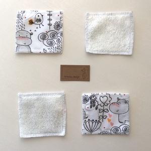 Arctisztító párna csomag, bambusz frottir és pamut textil felhasználásával, hordozó zsákkal- NoWaste  (Mesedoboz) - Meska.hu