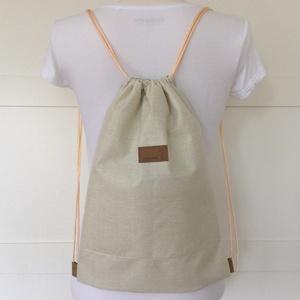 Cica mama a kiscicával, pasztell akvarell mintás hátizsák - Artiroka design - kiránduláshoz, edzéshez, világjáráshoz (Mesedoboz) - Meska.hu