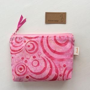 Egyedi batikolt prémium irattartó pénztárca - Rózsaszín - Artiroka design (Mesedoboz) - Meska.hu